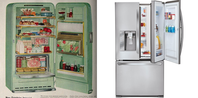 5.) An oddly colored Frigidaire VS a new, stainless steel GE.