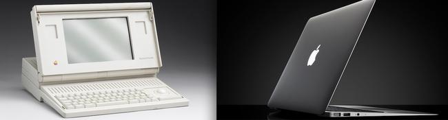 8.) A clunky Apple laptop VS a MacBook Air.