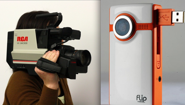 9.) A camcorder VS a Flip camera.