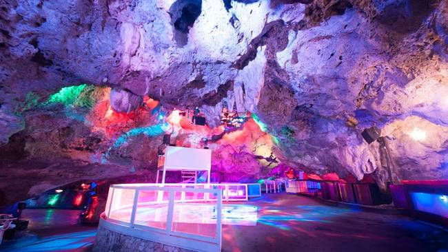 2.) Imagine Punta Cana: The futuristic looking bar is inside a cave in the Dominican Republic.