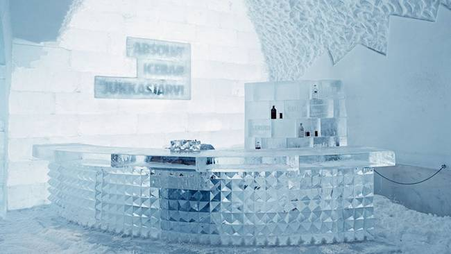 3.) Icebar in Icehotel:  Located n Jukkasjärvi, Sweden, this bar is certainly the coolest bar in town...get it?