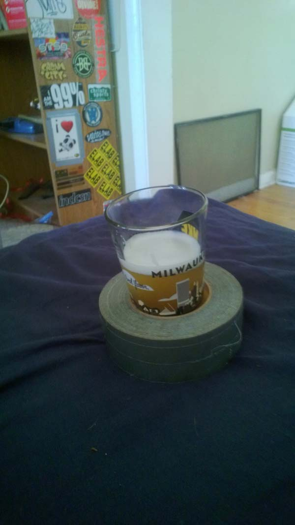 3.) The roll is a mobile drink holder.