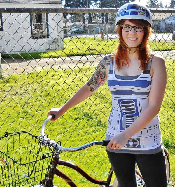 6.) Decorate a bike helmet.
