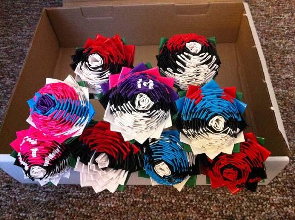 11.) Make custom tape Poke ball roses.