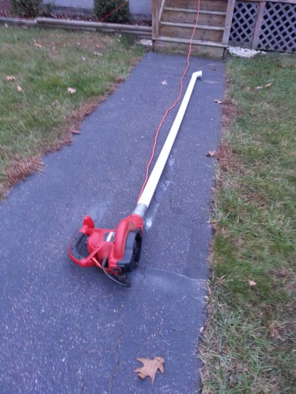 17.) Clean the gutters with a leaf blower.