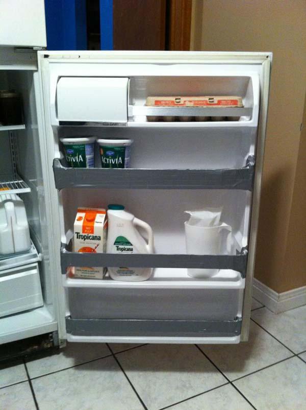 20.) Fix your fridge shelves.