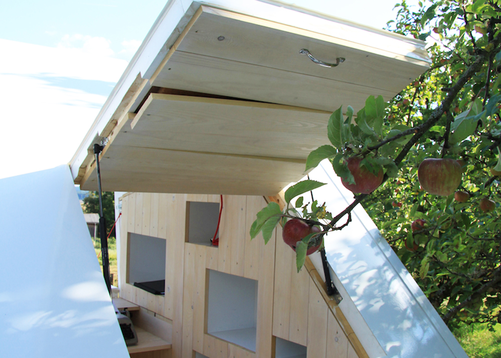 3. The skylight allows for some easy apple picking. You don't even have to put pants on.