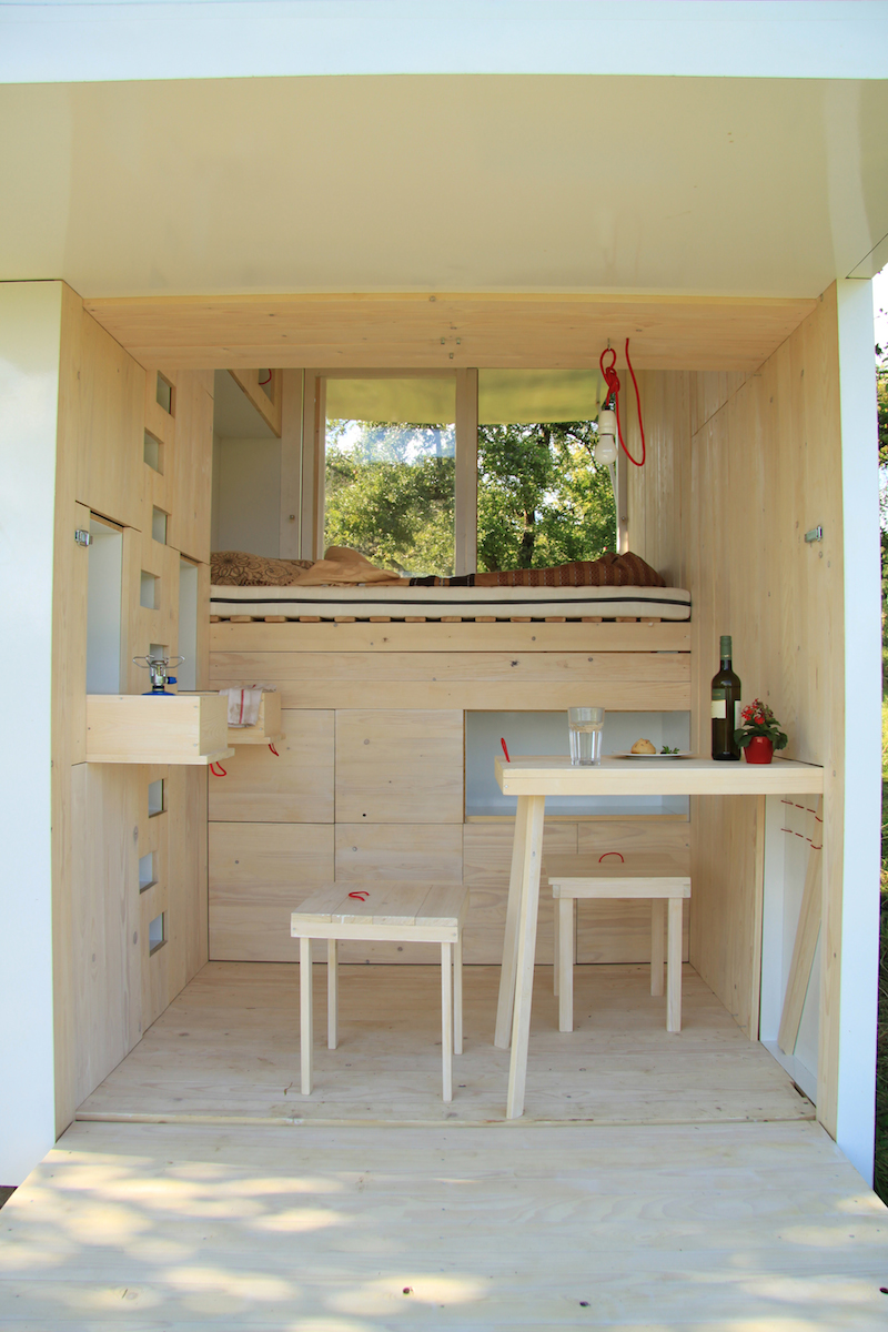 4. The kitchen, though small, makes the most of what little space it has.