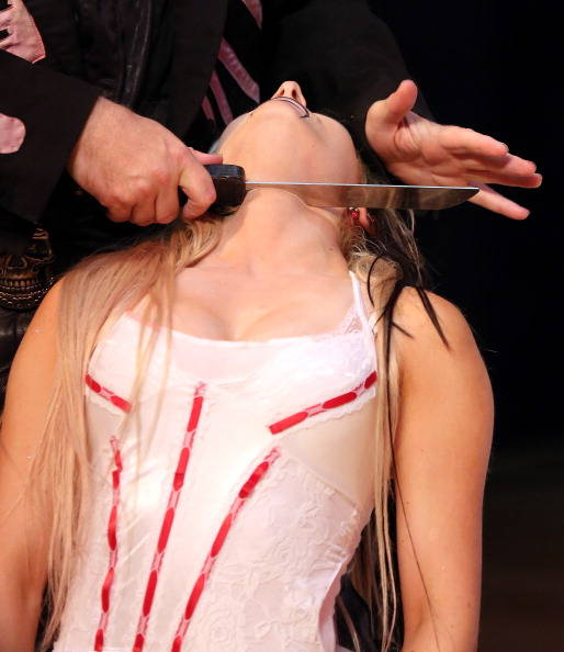 That looks like it hurts! The Circus of Horrors is infamous for their crazy and gory stunts, as well as tricks that keep audiences coming back for more.