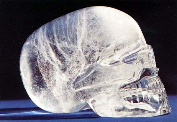 3.) Crystal Skulls: These are carvings made of clear or white quartz and they are allegedly pre-Columbian Mesoamerican artifacts (Aztec or Maya civilizations). There are no rudimentary carving markings though, making it difficult to determine if they really are ancient artifacts… possibly possessing powers.
