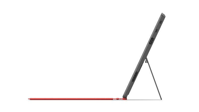 new microsoft surface tablet from side profile