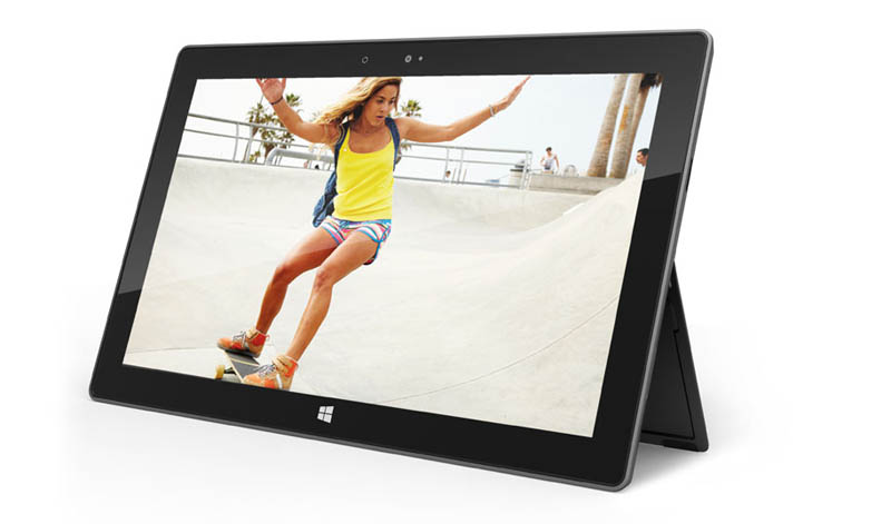 microsoft surface tablet with built in kickstand